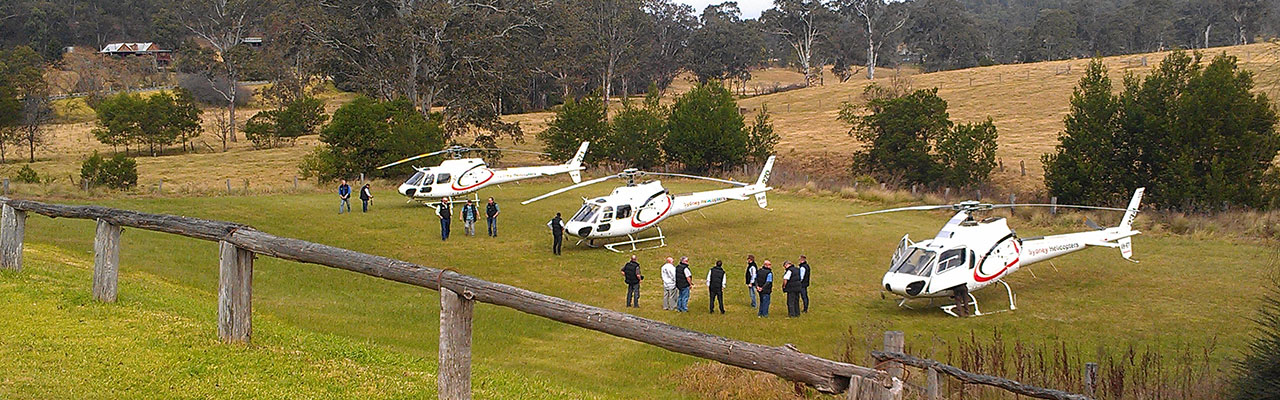 Wollombi Tavern, Helicopter landing site, Hunter Valley