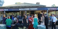 Wedding Guests enjoying a drink at Wollombi Tavern after ceremony