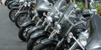 Motor bikes outside Wollombi Tavern