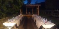 Tables setup at Wollombi Tavern for Function